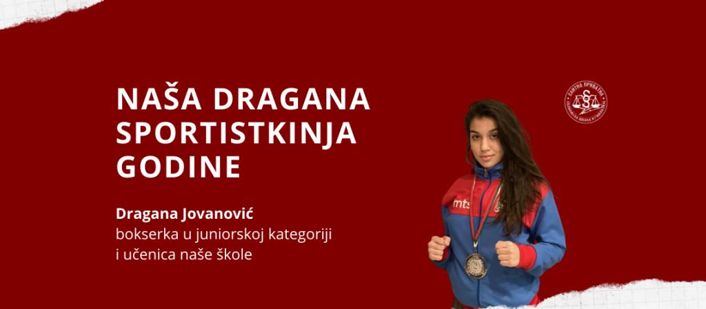Naša Dragana Jovanović sportistkinja godine